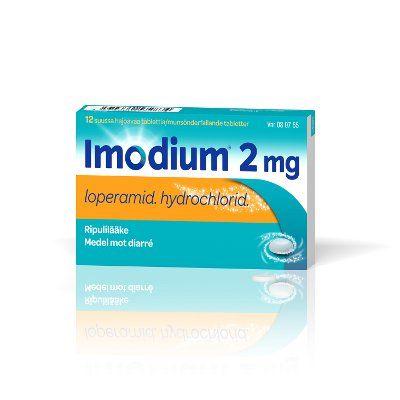 IMODIUM 2 mg tabl, suussa hajoava 12 fol