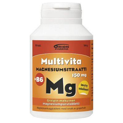 MULTIVITA MAGNESIUMSITRAATTI + B6 90 PURUTABL