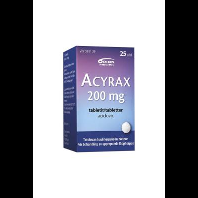 ACYRAX 200 mg tabl 25 fol