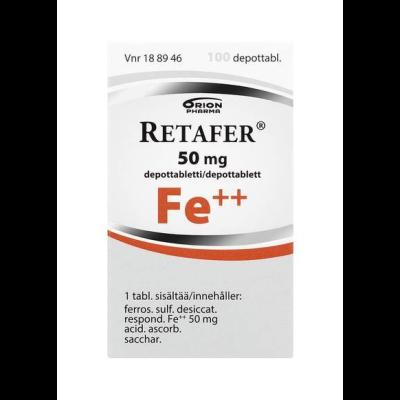 RETAFER 50 mg depottabl 100 kpl