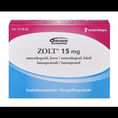 ZOLT 15 mg enterokaps, kova 7 fol