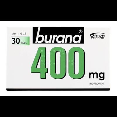BURANA 400 mg tabl, kalvopääll 30 fol