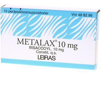 METALAX 10 mg peräpuikko 10 fol