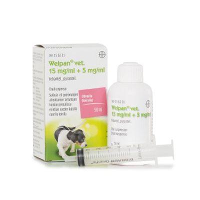 WELPAN VET 15 mg/ml + 5 mg/ml oraalisusp 50 ml