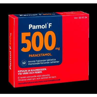 PAMOL F 500 mg tabl, suussa hajoava 12 fol