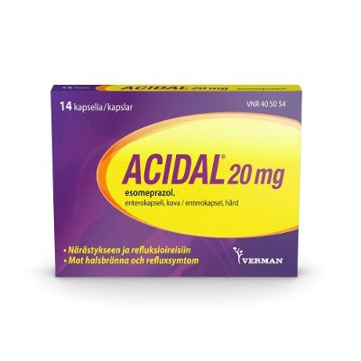 ACIDAL 20 mg enterokaps, kova 14 fol