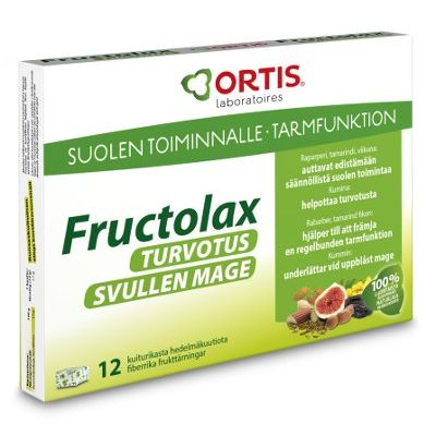 Fructolax Turvotus kuutio hedelmä ja kuitu 12 kpl