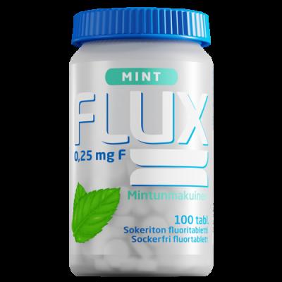 Flux Mint fluoritabletti 100 imeskelytabl