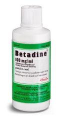 BETADINE 100 mg/ml paikallisantiseptiliuos 100 ml